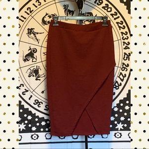 Dresses & Skirts - Burgundy stretchy pencil skirt. Kirious brand.